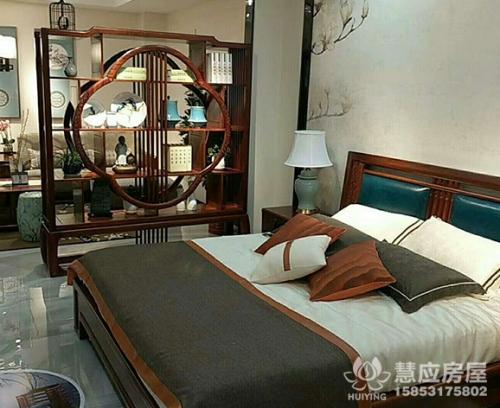 新中式卧室实木家具套装